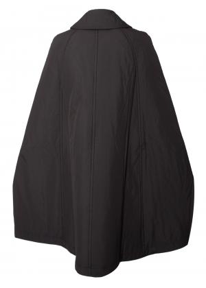 Comme Des Garcons Comme Des Garcons Quilted Zipped Biker Cape Jacket Black