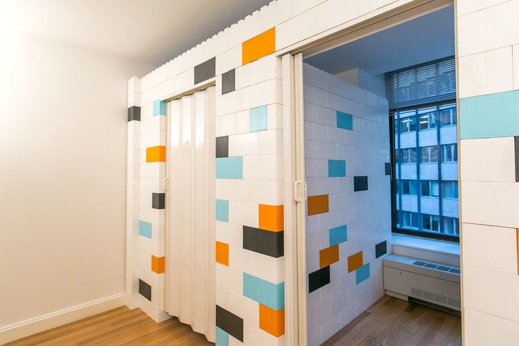 Add simple accordion doors or standard doors to your walls for added
