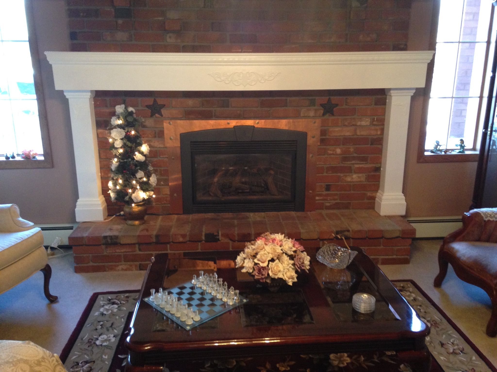 Finished our mantel fireplace mantel white fireplace mantel wrap