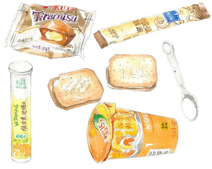 oh,food!-kaizen618_水彩,手绘,食物_涂鸦王国插画