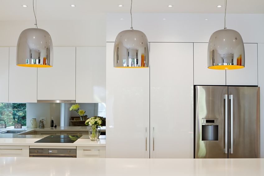 Moderne Küche mit Side by Side Kühlschrank Küche Pinterest - moderne kuche
