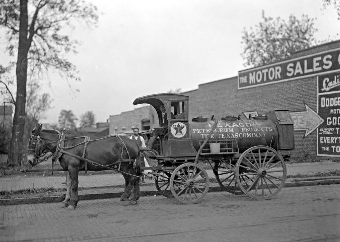 Image result for texaco oil wagon horses