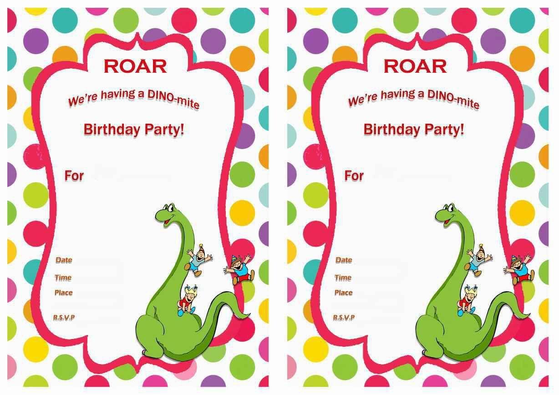 birthday invitation : dinosaur birthday invitations - Free ...