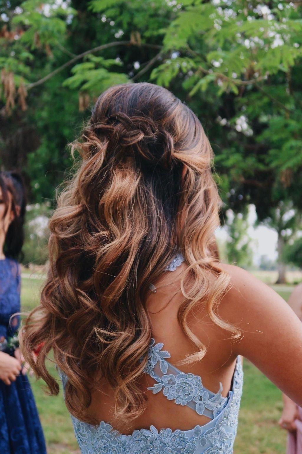 Elegant Half Up Half Down Hairstyles Ideas 15   Prom hair ...