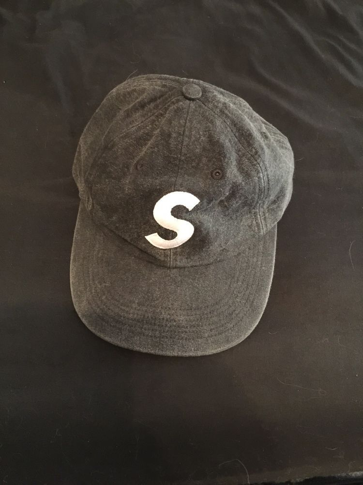 79ad475862b Supreme Washed Chambray S Logo 6-Panel Hat In Black  fashion  clothing