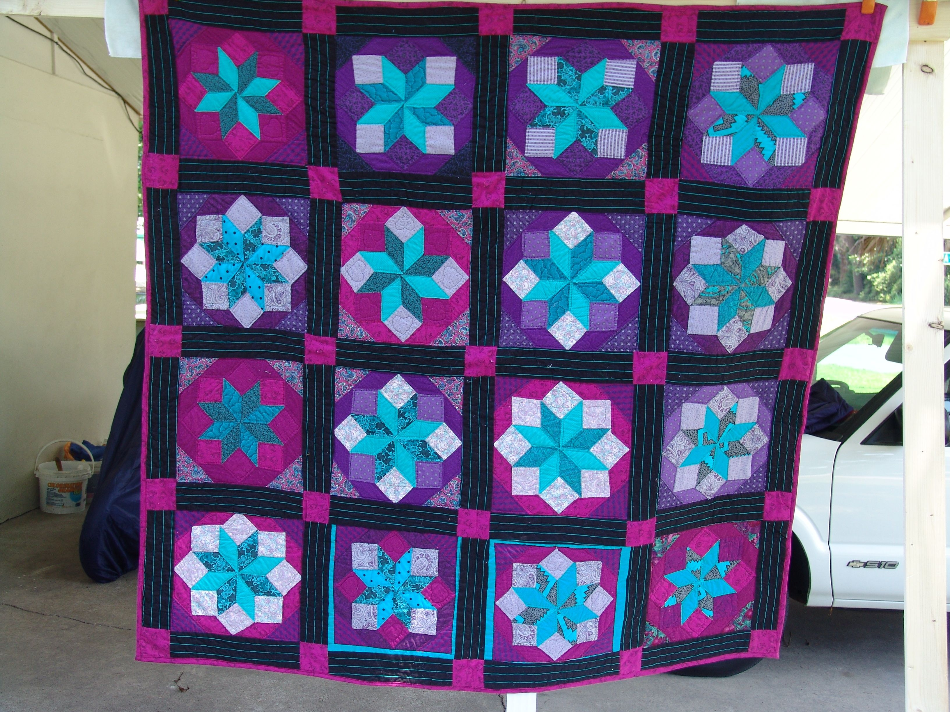 """My first quilt (that anybody saw) was a Jinny Beyer quilt """"The Rolling Star"""" 1983"""