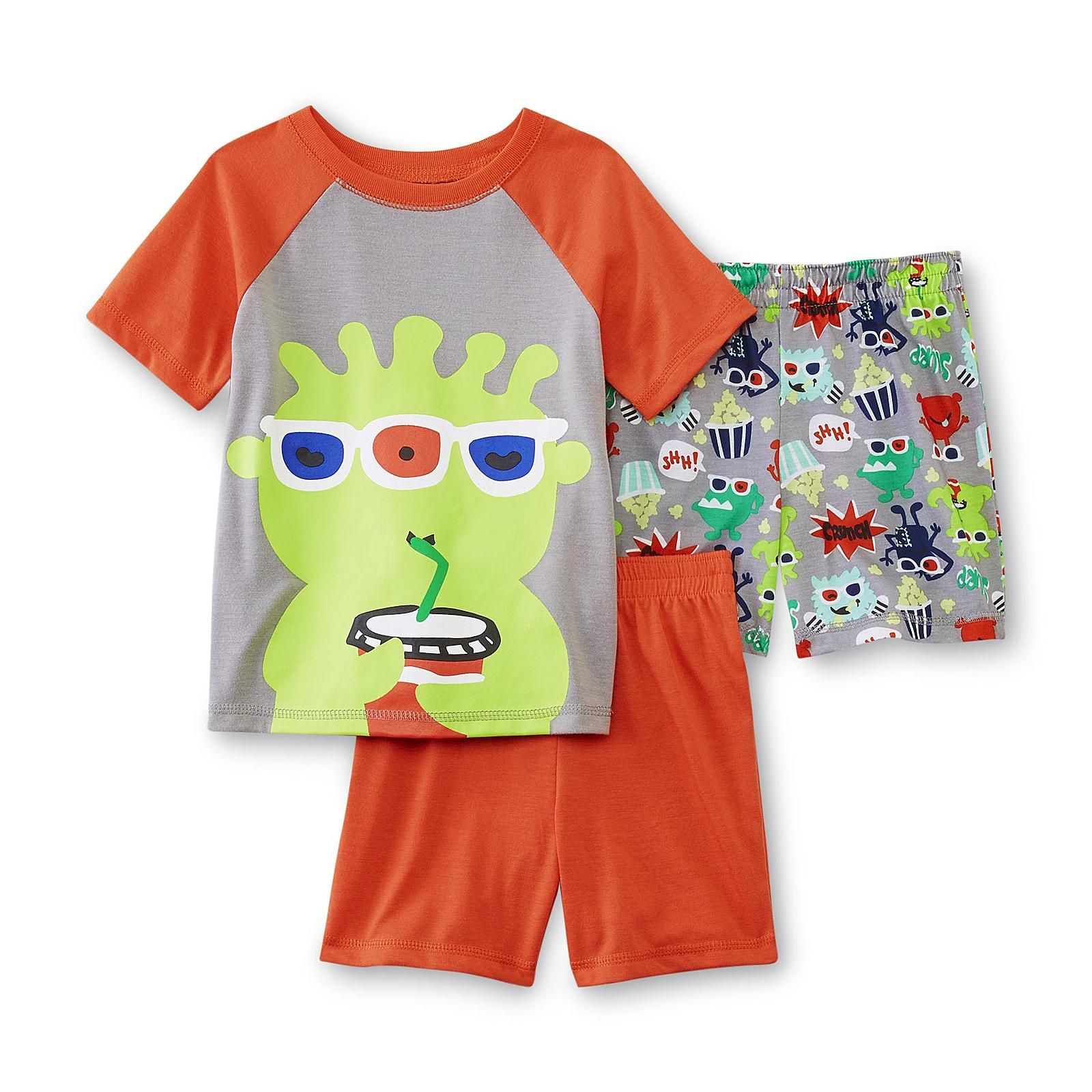 Wonderkids Infant Toddler Boy S Pajama Shirt 2 Pairs Shorts Movie Monster Baby Baby Toddler Cloth Boys Pajamas Baby Toddler Clothing Pajama Shirt