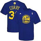 For Sale - New Adidas Golden State Warriors #30 Stephen Curry Blue Number T-shirt Jersey XL