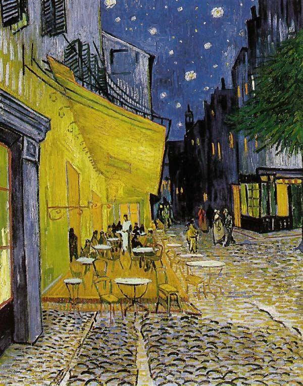 Van Gogh Terrazza Del Caffè La Sera Van Gogh Art Van