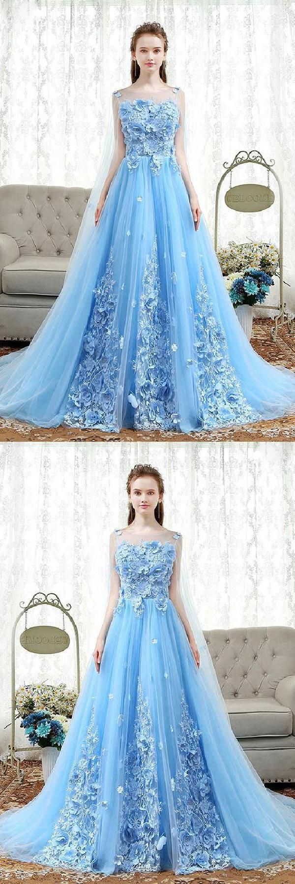 Prom dresses long prom dresses blue prom dresses lace dress