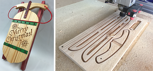 FREE CNC Project:Christmas Sled #free #cnc #cncproject