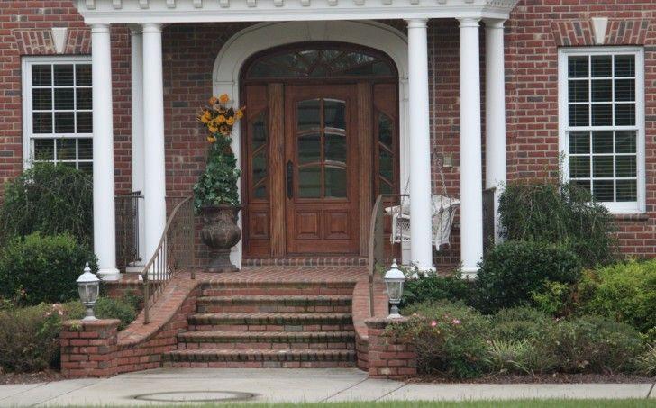 Granite Brick Front Steps Google Search Porch Steps Brick Porch Front Porch Steps