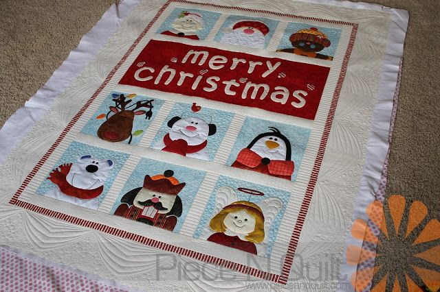 Piece N Quilt: Merry Christmas - Custom Machine Quilting by Natalia Bonner
