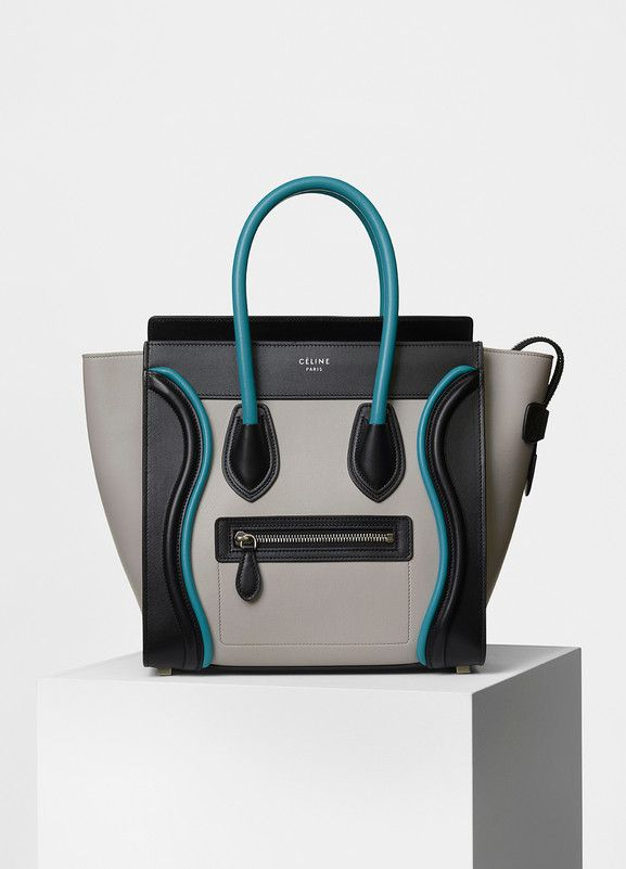 Micro Luggage Handbag in Smooth Calfskin with Piping - Céline ... 6a01c7c330168
