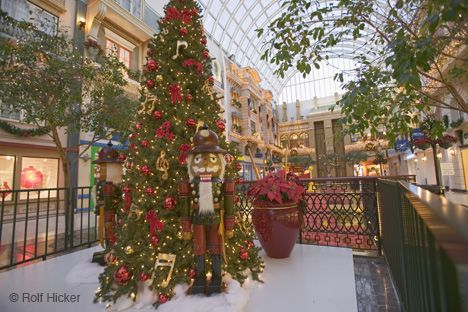 Christmas At The West Edmonton Mall In The City Of Edmonton Alberta Canada Canada Christmas Christmas Worldwide Green Christmas Tree