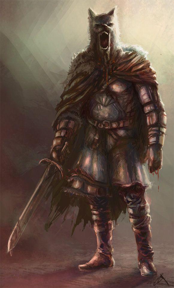 Norseman - color sketch by Borislav Mitkov on ArtStation.