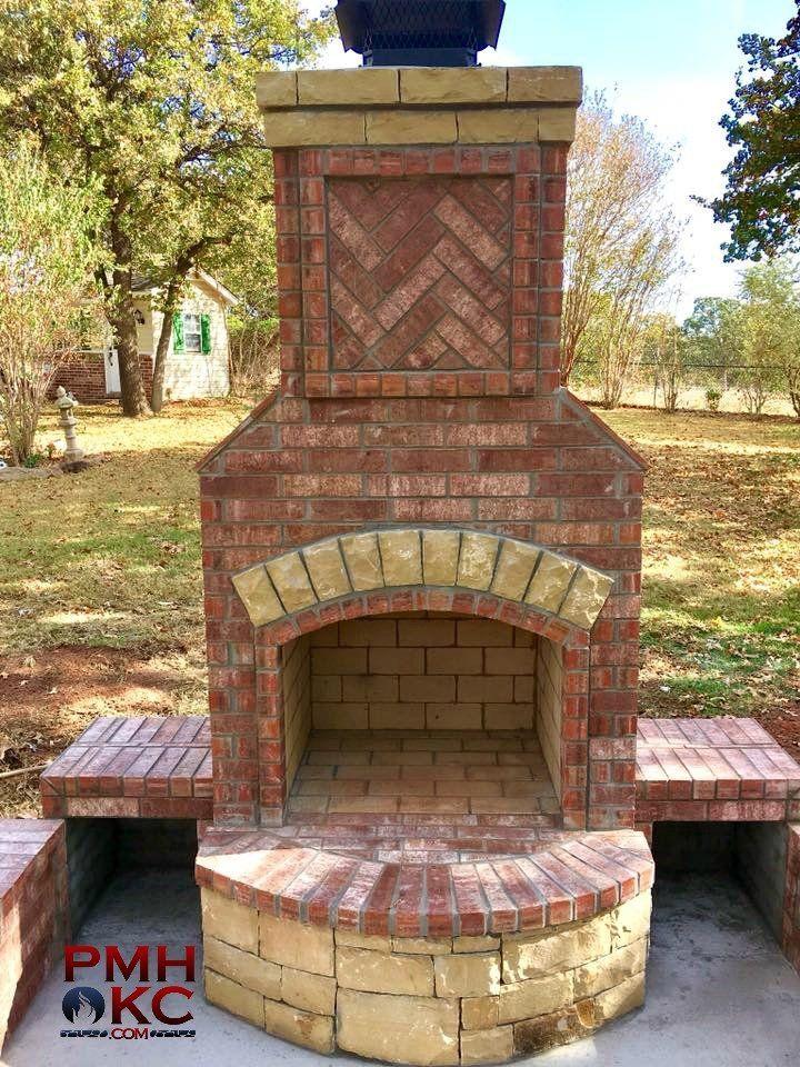 Outdoor Fireplaces | Fireplace, Custom fireplace, Brick ... on Simple Outdoor Brick Fireplace id=88763