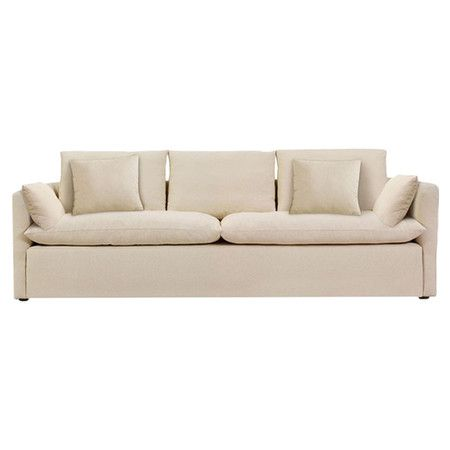 Linen and cotton sofa with a kiln-dried hardwood frame and European ...
