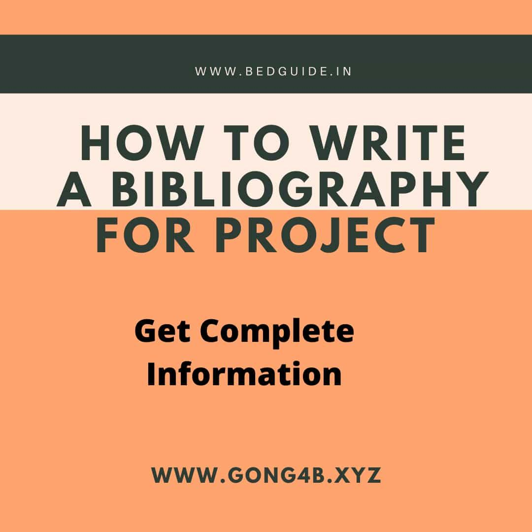 How To Write A Bibliography Writing A Bibliography School Projects Writing
