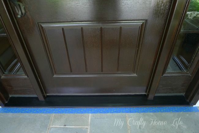 Paint The Aluminum Threshold Black; Rustoleum Metal Primer And Protective  Enamel Silver Paint