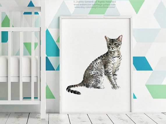 Cat Watercolor $25. Looks just like my kitty! <3