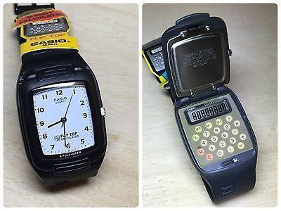 2fdde68ad4e Rare Vintage Casio FTP-10 Flip Top Calculator Watch NOS NEW HTF NIB Japan