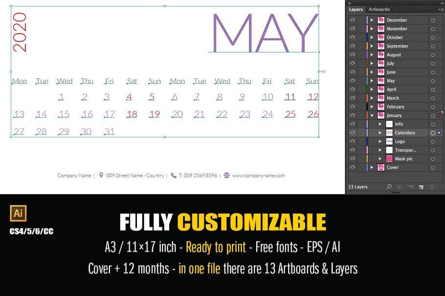 Minimal Calendar 2020 Minimal Calendar Minimalist Calendar Calendar 2020