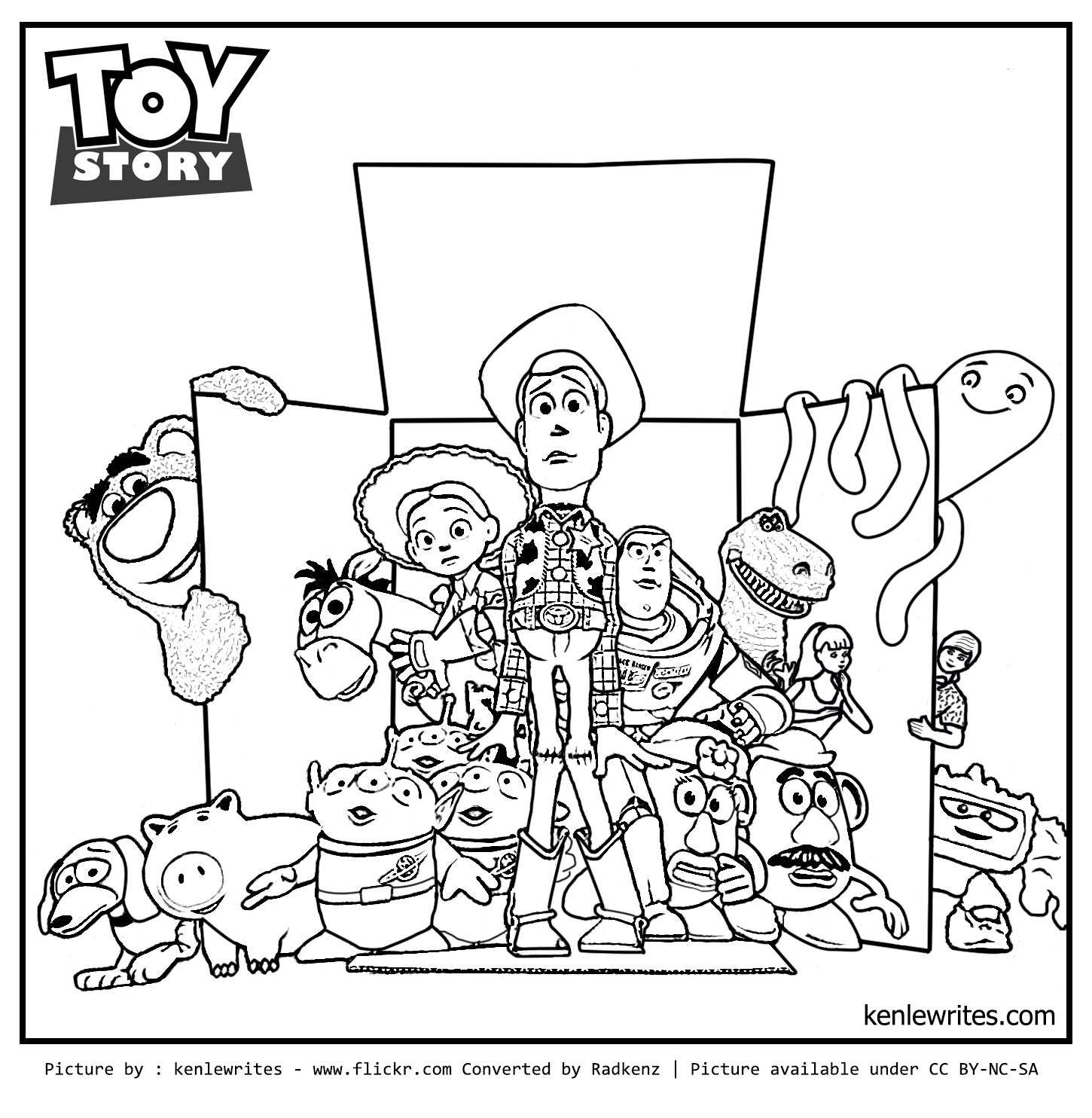 Fancy Toy Story Coloring Pages For Coloring Pages For Kids