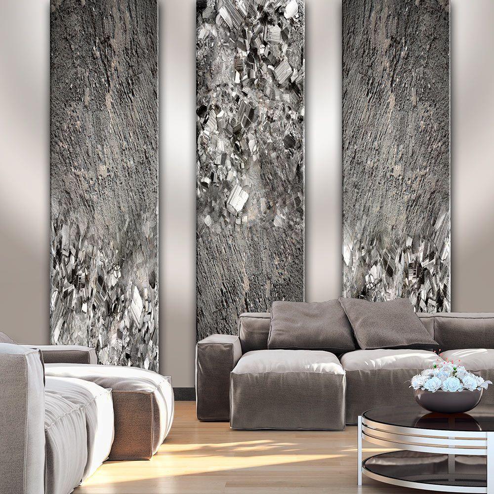 Graue Wände Wohnzimmer: Details Zu BETON STEINE DIAMANT OPTIK Fototapete Vlies