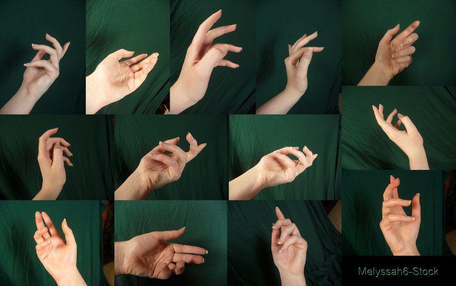 hand poses cerca con