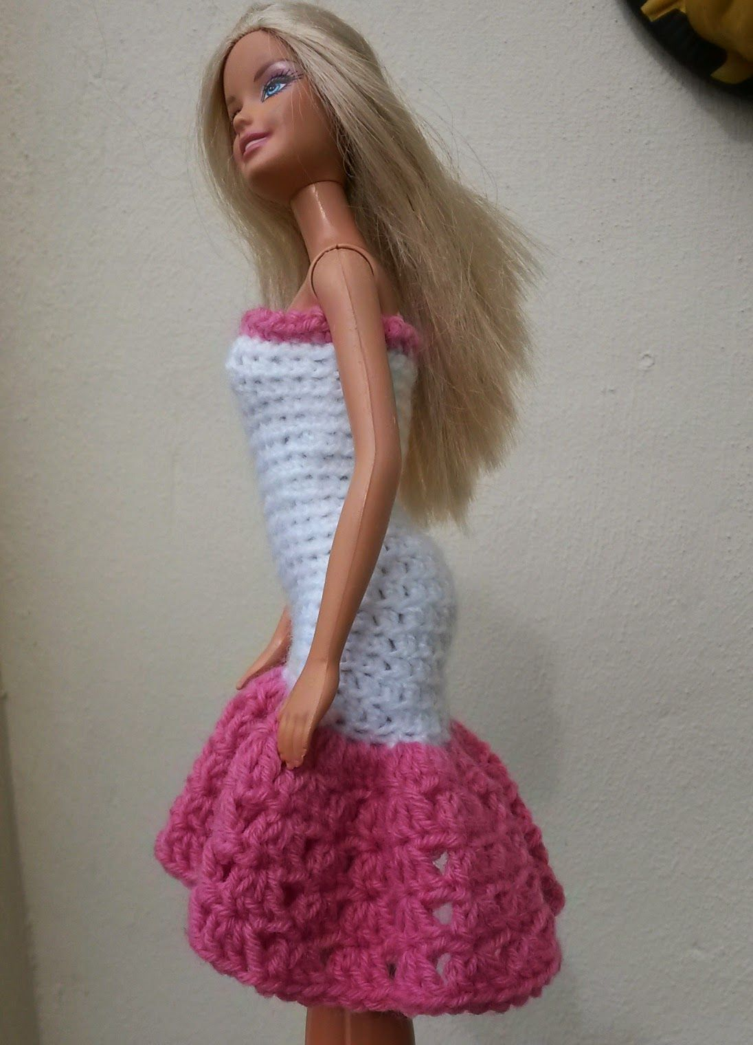 Lyn\'s Dolls Clothes: Barbie crochet prom dresses | Barbydoll crochet ...