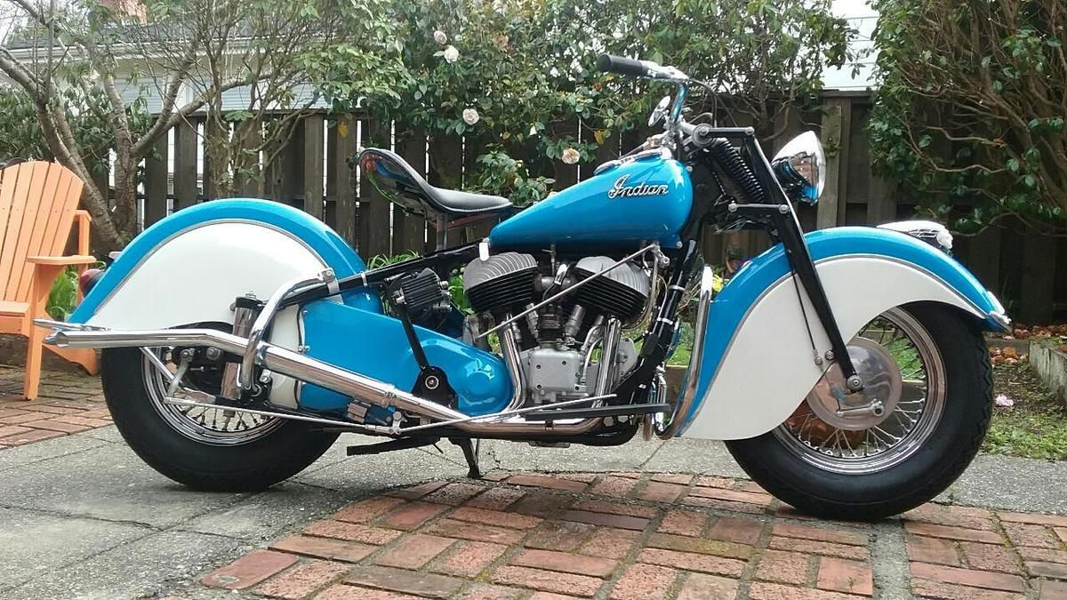 1947 Indian Chief Vintage Motorcycle For Sale Via Rocker Co Vintage Motorcycles For Sale Brat Bike Vintage Motorcycles