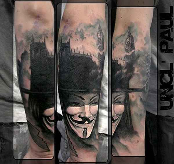 Tattoo Designs Vendetta: The Only Verdict Is Vengeance, 10 Best V For Vendetta