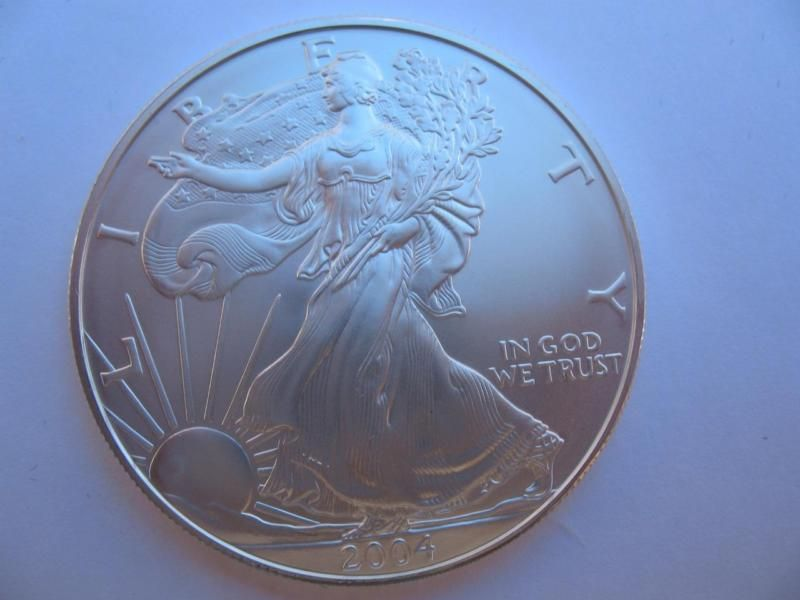 Antique Coin 1 Oz 999 2004 Silver American Eagle Liberty Dollar B U From Mint Tube Gold Coins Antique Coins Silver