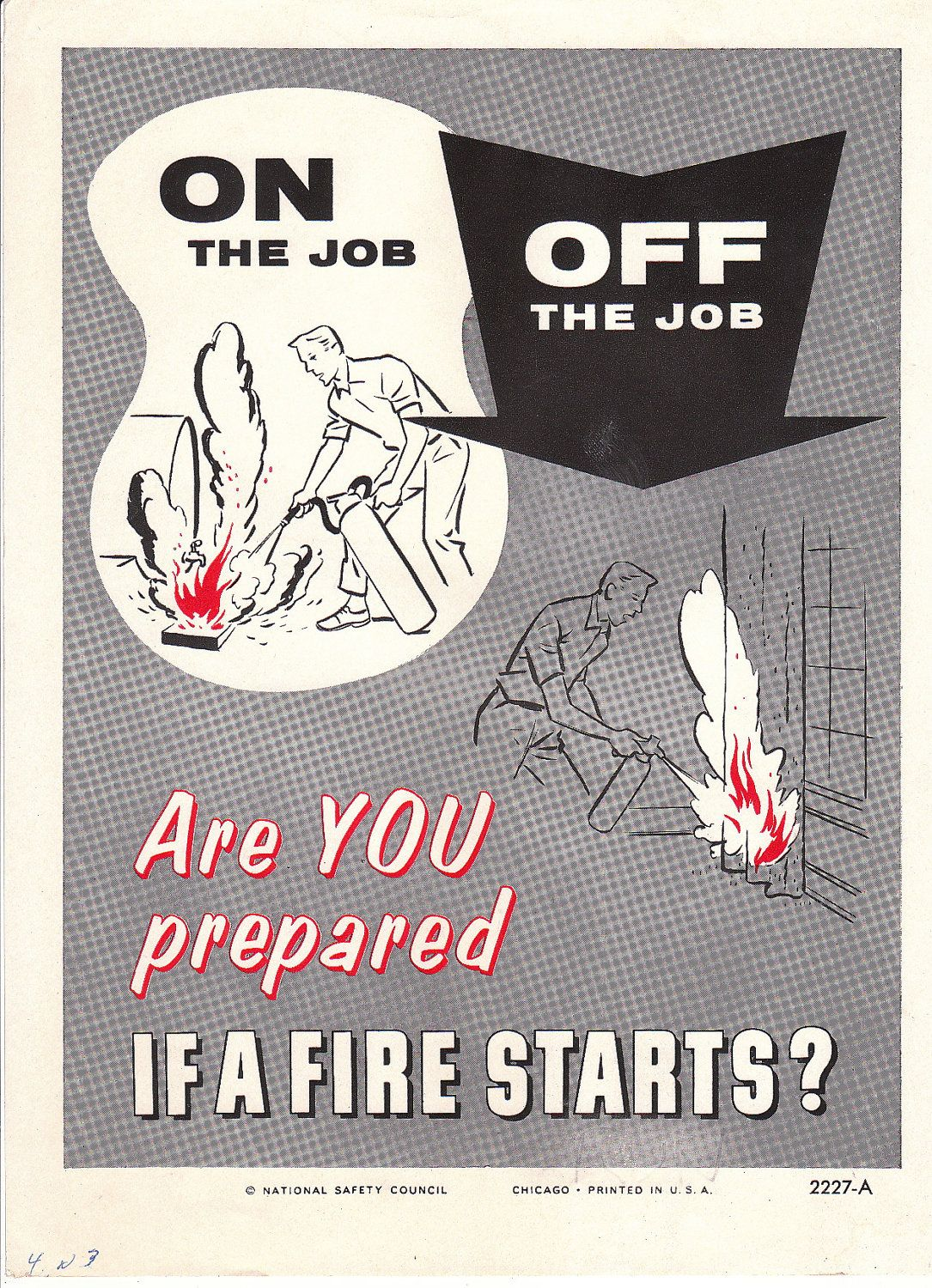 Collectable Vintage National Safety Poster On The Job Off The Job