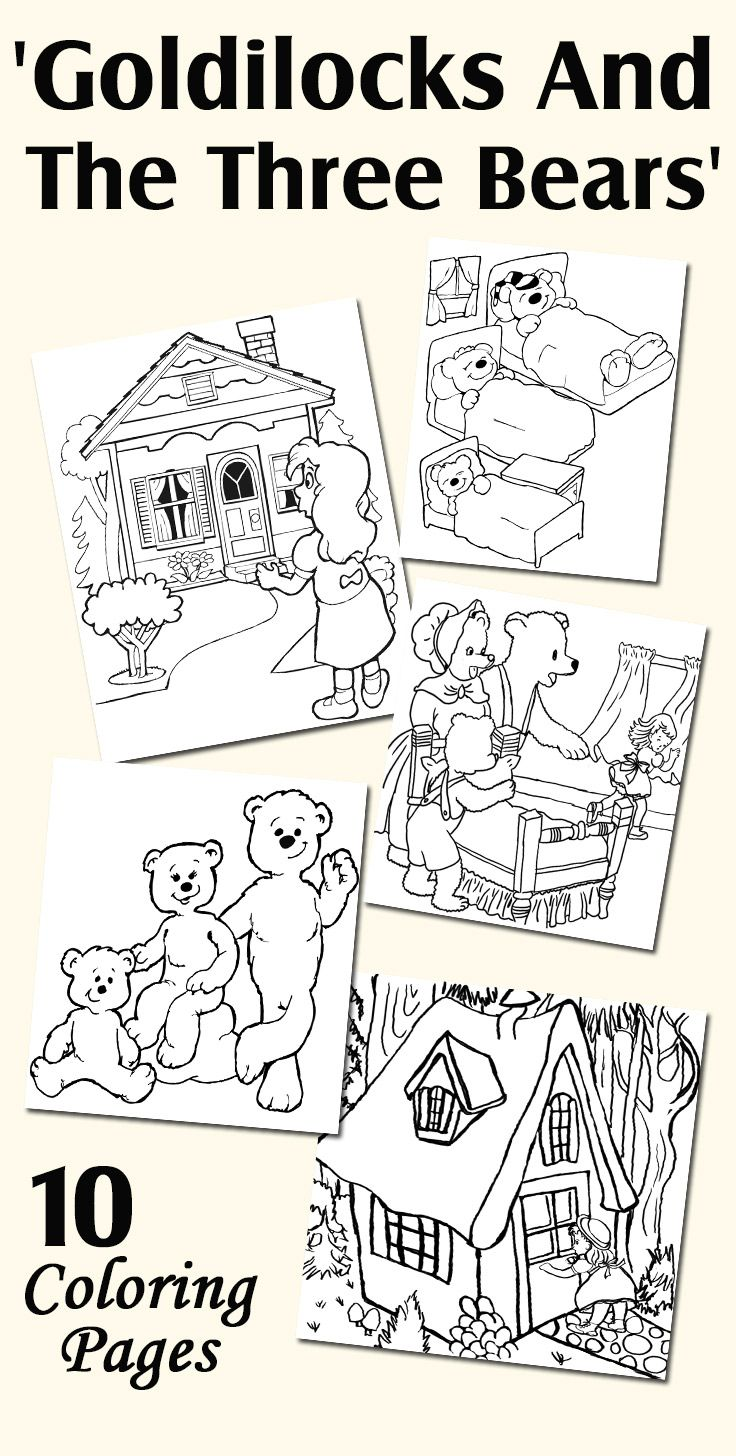 Top 10 Free Printable Goldilocks And The Three Bears Coloring Pages Online