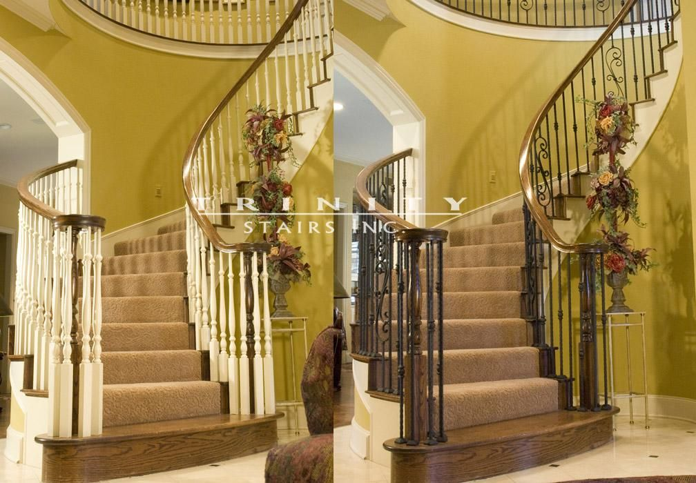 Staircase Remodel Before After