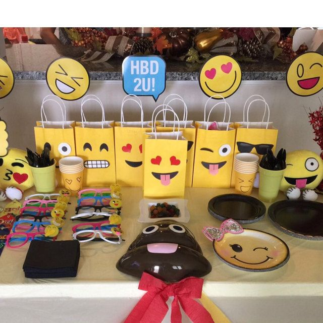 Emoji Birthday Party Ideas Printable Faces For Goodie Bags DIY