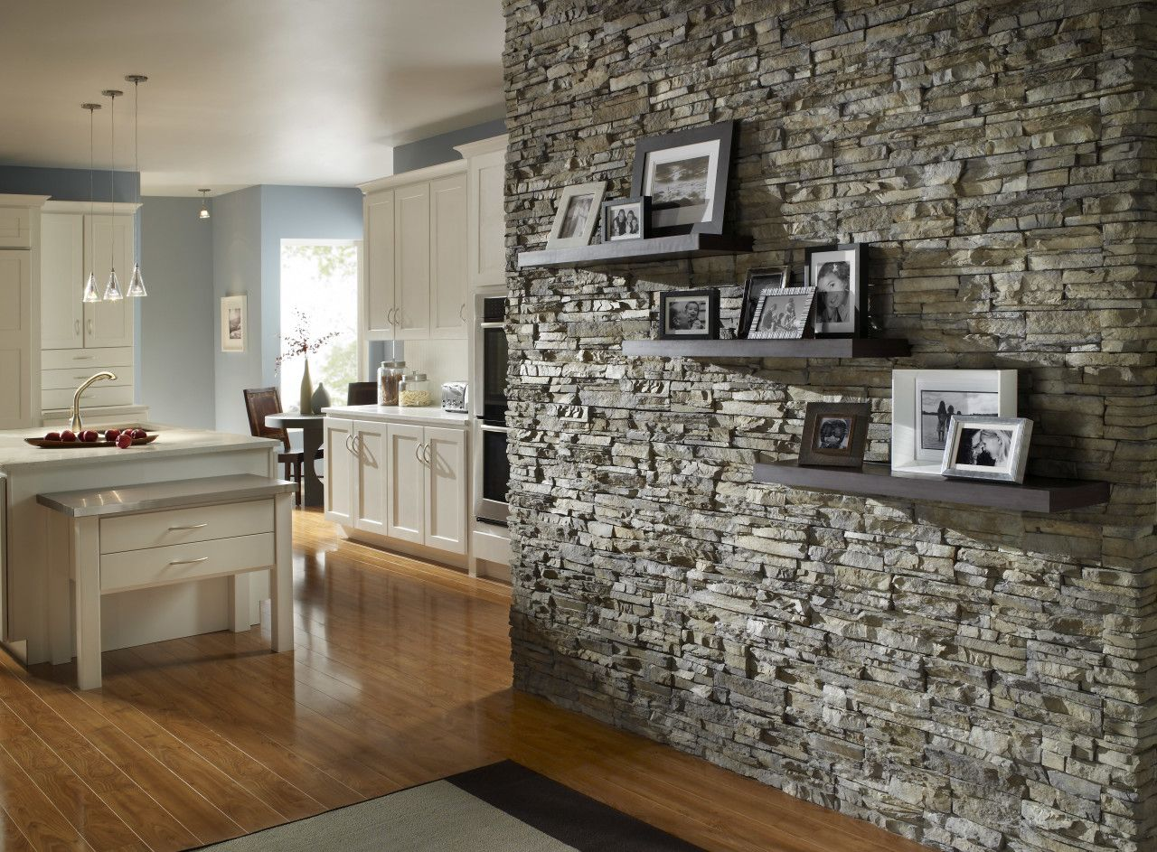 How To Install Stacked Stone Tile On Drywall Stone Walls Interior Stacked Stone Walls Indoor Stone Wall