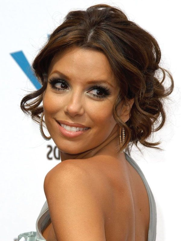 Middle Part Hairstyles On Eva Longoria Hairstyles Haircuts
