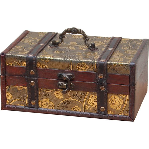 Decorative Trunk Boxes Captivating Decorative Leather Treasure Trunk Box  Leather The O'jays And Trunks Decorating Design