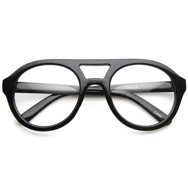 20d66f33c0 Hipster Retro Bold Thick Frame Clear Lens Aviator Glasses 8774 ...