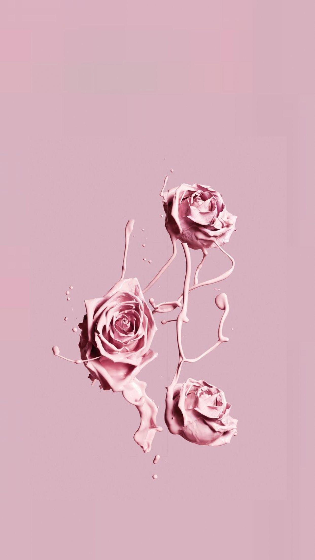 Aesthetics Flowerswallpaperiphone In 2019 Pink Wallpaper