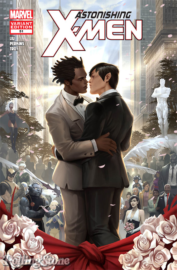 Variant Cover Of Astonishing X Men 51 Which Features The Very First Gay Wedding
