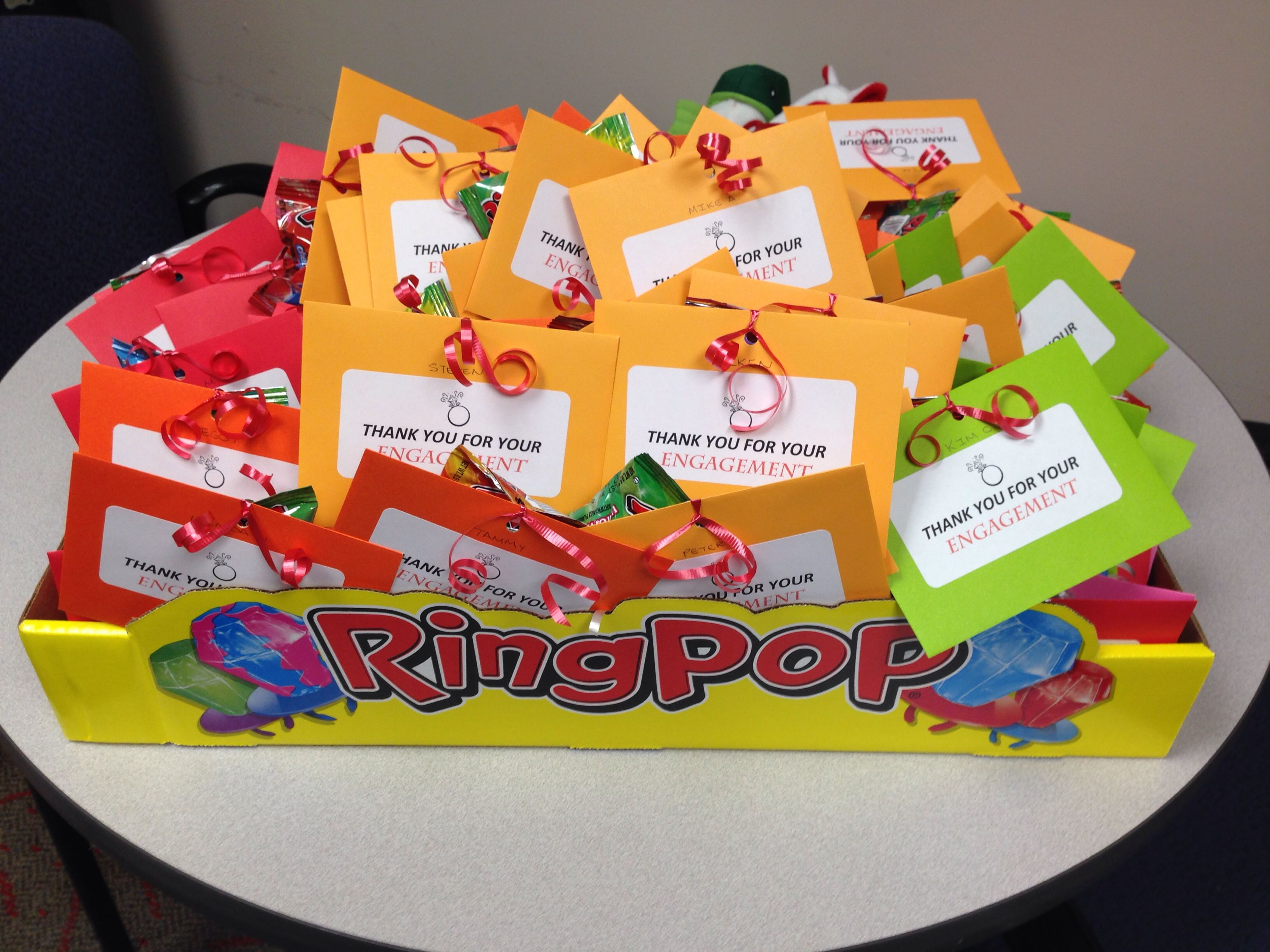 Employee appreciation-ring pop idea | My own creations ...