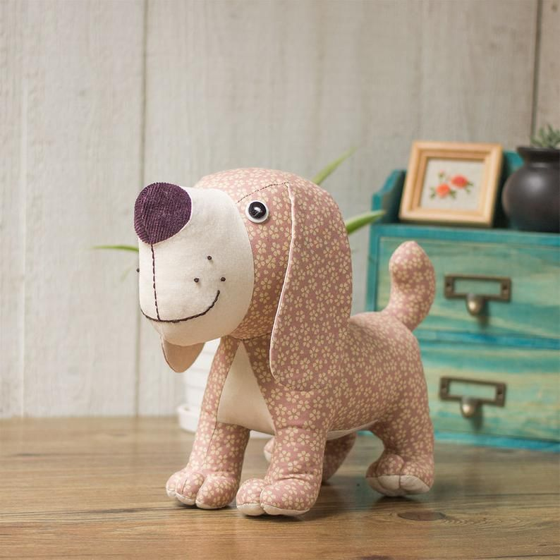 Stuffed Animal Standing Puppy Dog Pdf Sewing Patterns
