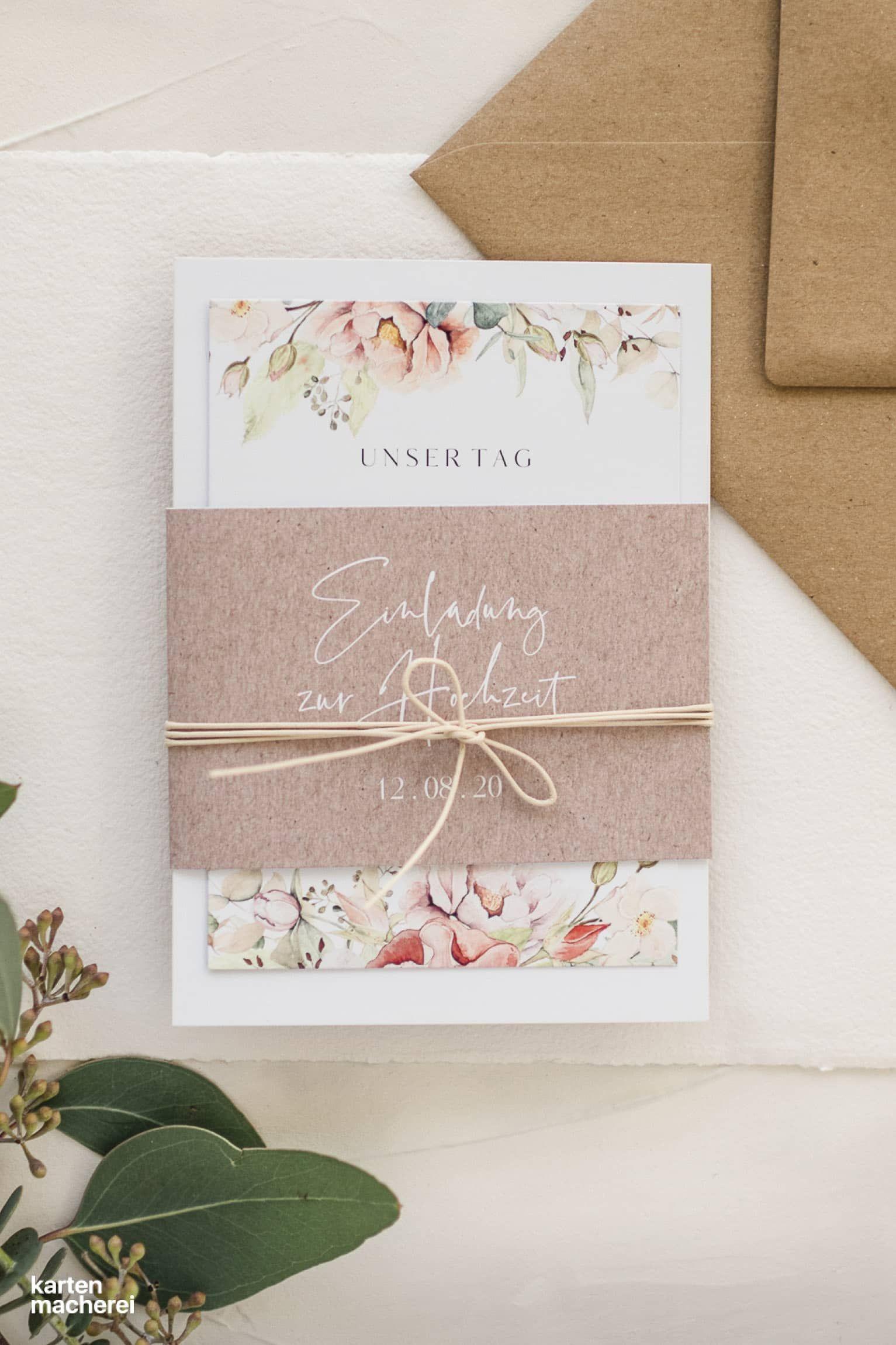 """Hochzeitseinladung """"Romantic Garden"""""""