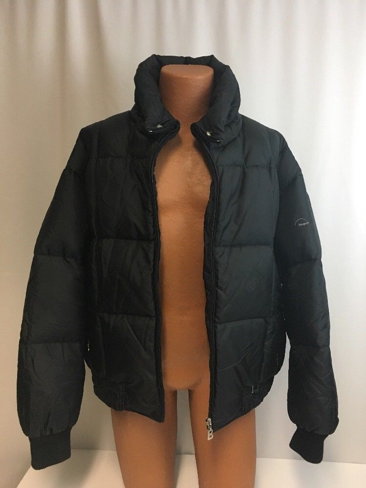 90aa7ec0e Details about Mens J.CREW 80% Goose Down Black Puffer Winter Hooded ...