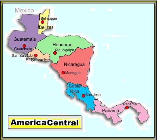 Mapa Interactivo America Capitales.Resultado De Imagen Para America Central Con Sus Paises Y