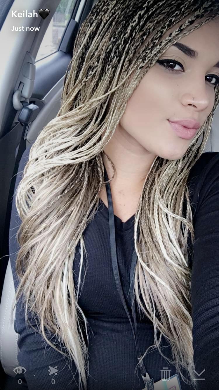 blonde blended singles braids